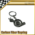 Car-styling Pure Carbon Fiber Turbo Snail Keyring Key Ring Chain
