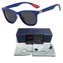 New Retro Square Sunglasses Men Fashion Vintage Mens Polarized Designer Driving Mirrored Male Goggles UV Gafas De Sol