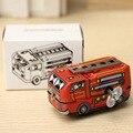 Navidad linda mina de bomberos Vintage jefe de bomberos del carro del coche Clockwork Wind Up juguetes de hojalata juguetes modelo de vehículo Boy regalos de los niños