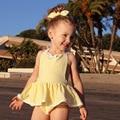 Chica Monos de Rayas y bowknot Infant Toddler Chica Mamelucos Dulces Niños Ropa Libre de La Venda