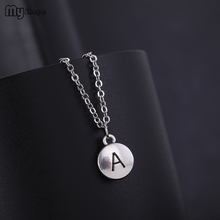 My Shape New Arrival Zinc Alloy Metal Crystal A letter Pendants Chain Necklaces Chic Jewelry for Women