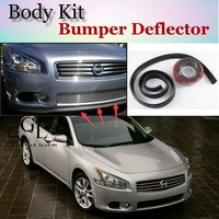 Bumper Lip Deflector Lips For Nissan Maxima Front Spoiler Skirt For TopGear Friends To Car Tuning