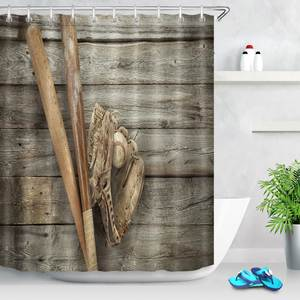 LB Bathroom Waterproof Fabric Shower Curtain Bath Sets