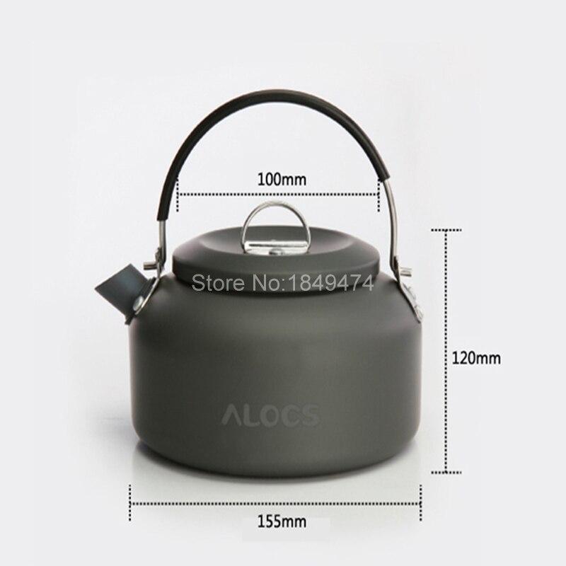 Alocs CW-K03 1.4L Outdoor Tableware Tourism Aluminum Pot Outdoor Kettle Camping Picnic Water Teapot Coffee Pot 210g