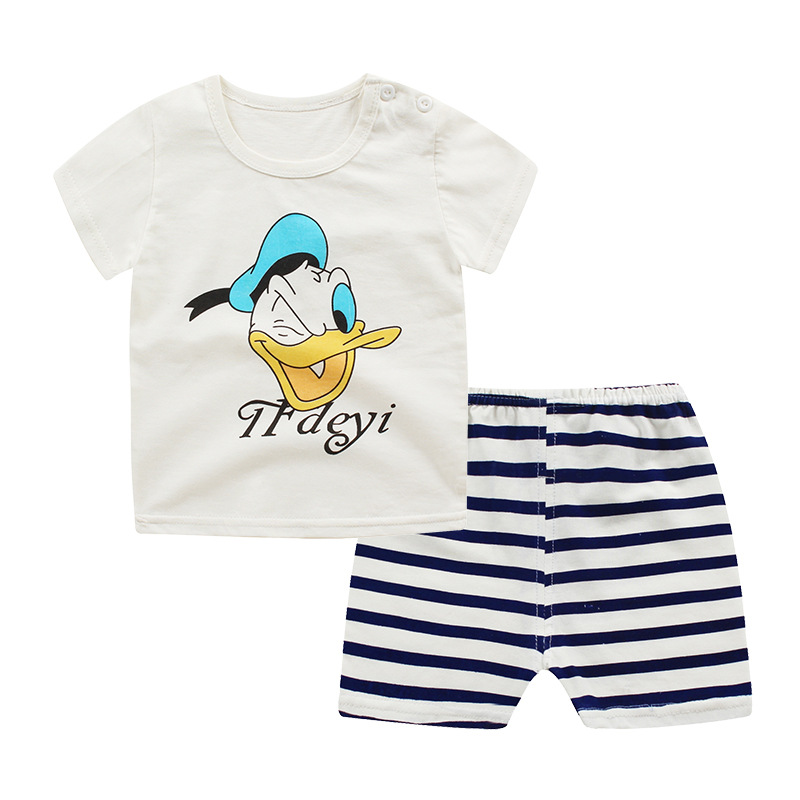 Baby Boy Clothes 2018 summer style Cartoon Newborn Baby Boys Clothes Set Cotton Baby girls Clothing Suit cotton Infant Clothes S