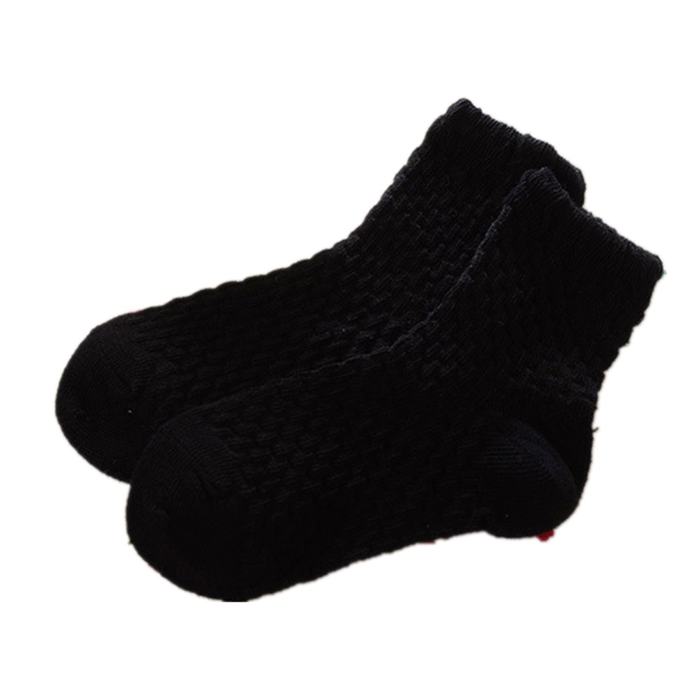 0-12 Years Children Socks 5 Pairs Breathable Baby Girls Hobby Sox Kids Anklets Boys Hose Pure Solid Socks For Girls Pure Solid 8