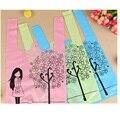 22X38cm cartoon girl plastic shopping bag grocery store bags plastic vest handle bags 200pcs free shipment