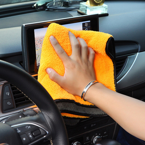 Image 3 - 38x45 Car Care Polishing Wash Towels Plush Microfiber Washing Drying Towel Strong Thick Plush Polyester Fiber Car Cleaning Cloth
