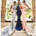 Adulto Vestidos Dama de honra Longo de Alta Neck Lace Sereia vestidos de Casamento Vestido de Festa 2017 Custom Made Bruidsmeisjes jurk Abito damigella