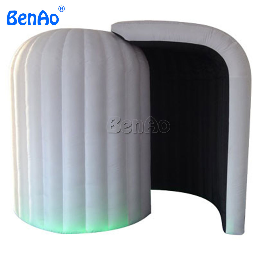 T347 Free shipping+Light  Air igloo inflatable photo booth with led light for Party/event/wedding/family use  free shipping 3x3x2 4m inflatable photo booth cube inflatable photo booth led inflatable photo booth for sale