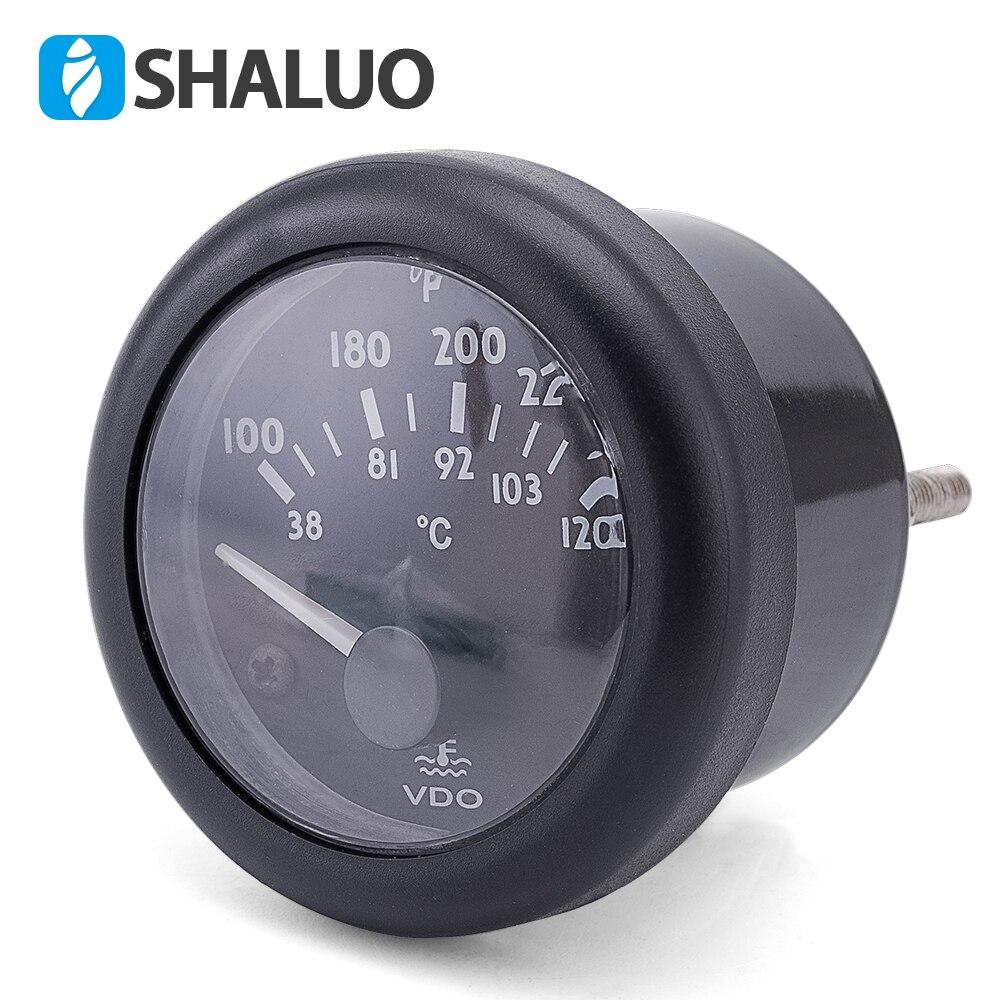 12V VDO water temperature Gauge 38~120C/100~250F 12V / 24V optional 12V VDO water temperature Gauge 38~120C/100~250F 12V / 24V optional