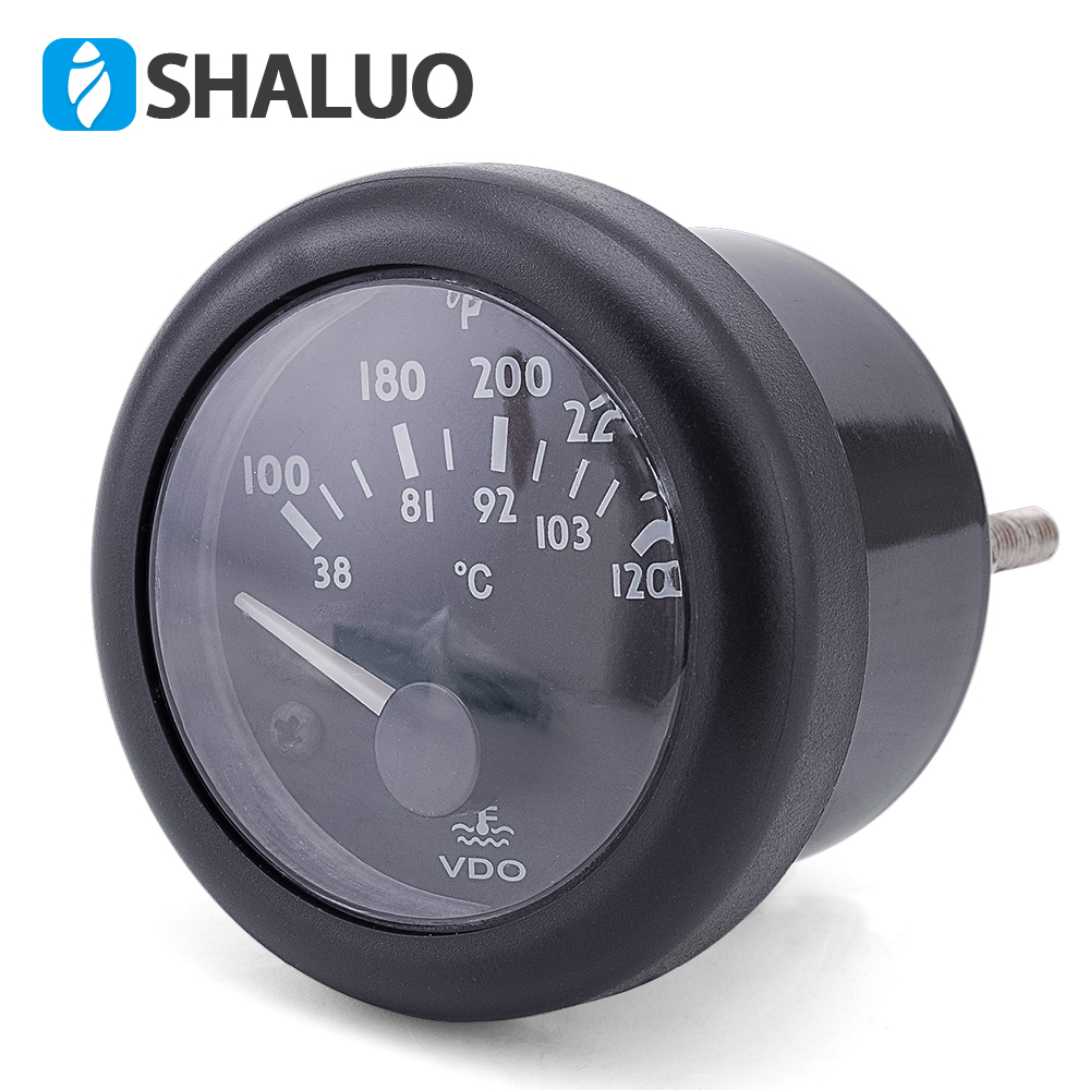 12V VDO water temperature Gauge 38~120C/100~250F default 12V 12V / 24V optional act112 12v
