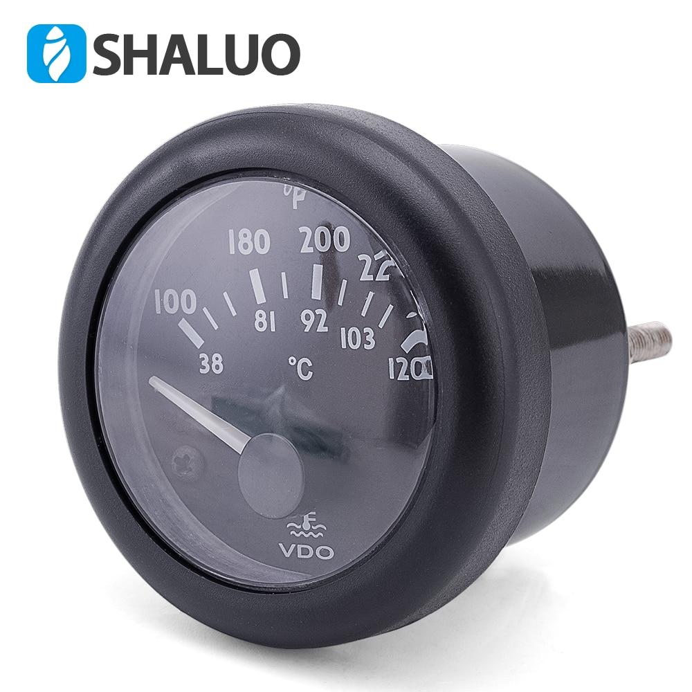 12V VDO water temperature Gauge 38~120C/100~250F default 12V 12V / 24V optional joudisk 12v