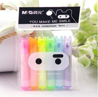 6 pcs/lot Cute Kawaii Mini Highlighter Creative Lovely Cartoon Ninja Rabbit gel Pen for Kids Korean Stationery Free shipping  цена и фото