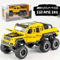 19CM 1/32 Scale Metal Armored vehicle Alloy Classic AMG G63 6X6 Pick Up SUV Off Road Strongest Car Toys Pull back Model Diecast