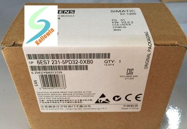 Original SIMATIC 6ES7231-5PD32-0XB0 S7-1200 ANALOG INPUT SM 1231 RTD  4 X AI RTD PLC MODULE 6ES72315PD320XB0 6ES7 231-5PD32-0XB0 domestic compatible with simatic 6es7 153 1aa03 0xb0 s7 300 plc set of new plc shell 6es7153 1aa03 0xb0
