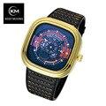 KEEP MOVING Brand Relogio Masculino Automatic Watch PU Watchband Sport Wrist Watch Men Stainless Steel Waterproof 30M