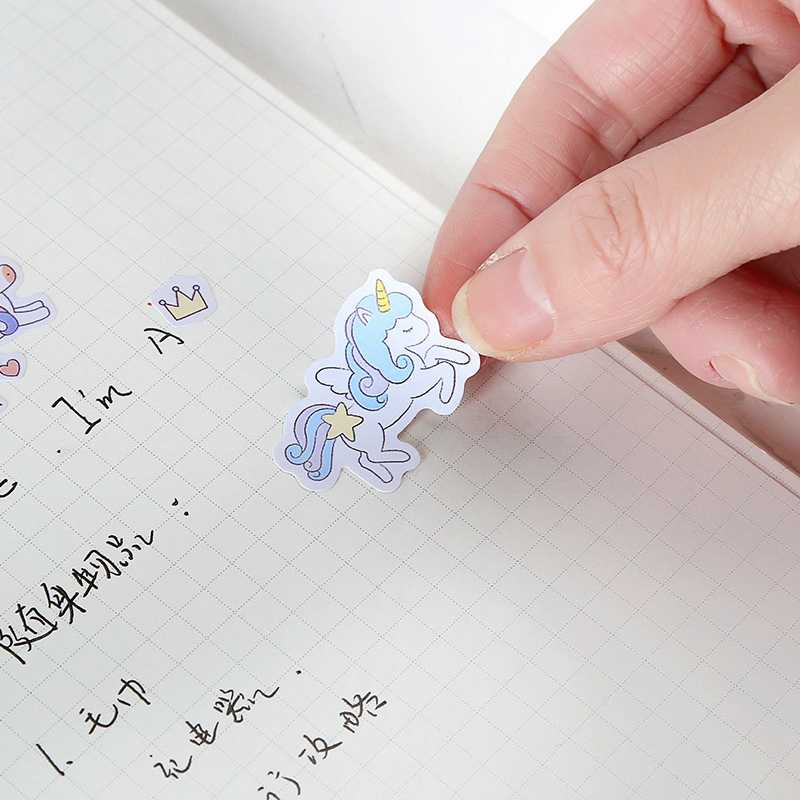 Lucu Kartun Unicorn Stiker untuk Scrapbook Buku Diary Laptop Skateboard Unicorn Hewan Lucu Stiker Mainan untuk Anak-anak Hadiah