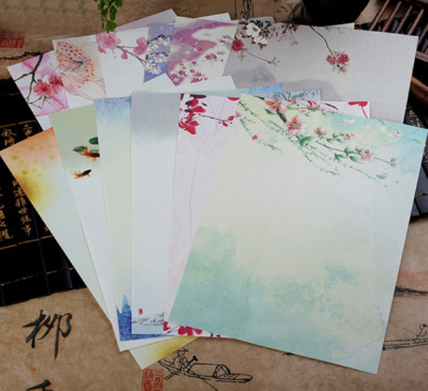 Wholesale 10Pack/Lot New Every Year Chinese Stationery Lotus Peach Plum And Wind Variety Selection H0171