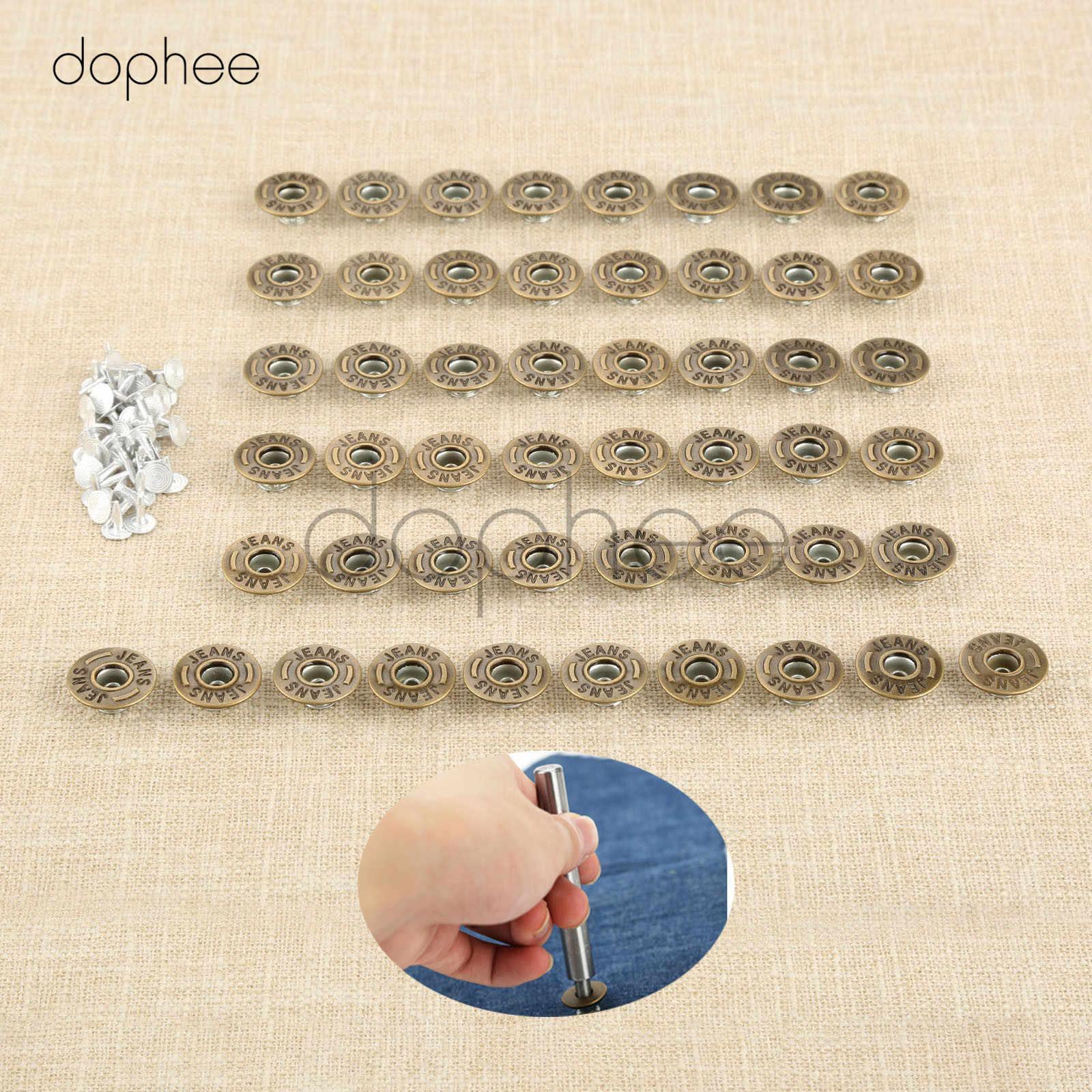 50Pcs Bronce Antiguo Metal Ropa Jeans Tachuela Botones Snap patrón aleatorio 20mm
