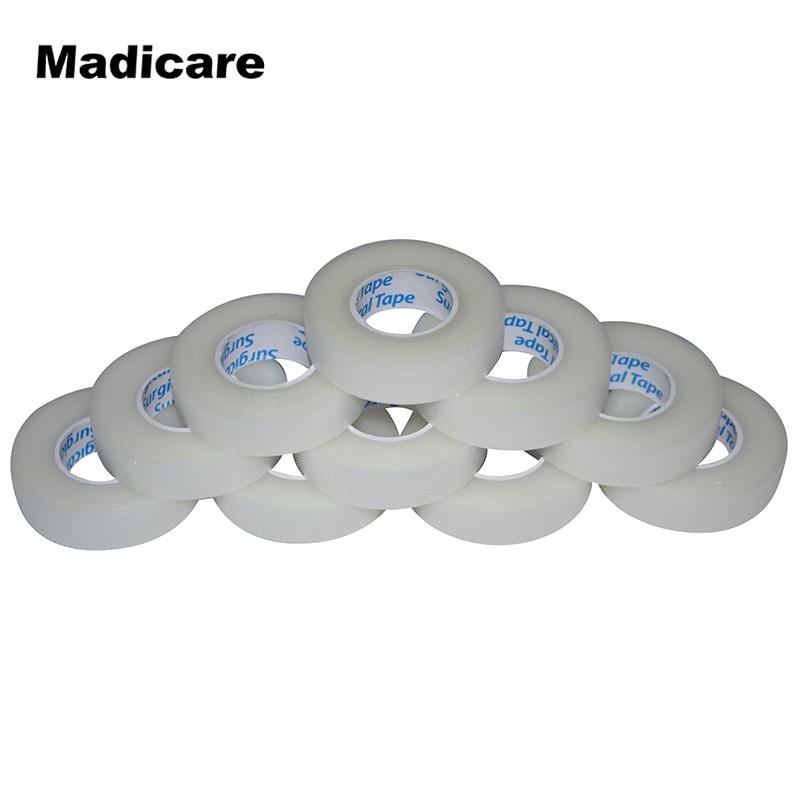 Prix pour 24 Rouleaux 1.25 cm x 9.1 m PE Micropore bande Rouleau de Ruban Médical pour Corps Épaule Coude Cils Individuels Extensions