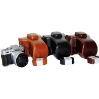 Portable Camera Protective Bag Case For Fujifilm X T10 X T20 X T30 Camera PU Leather Cover Protector Cases High Quality