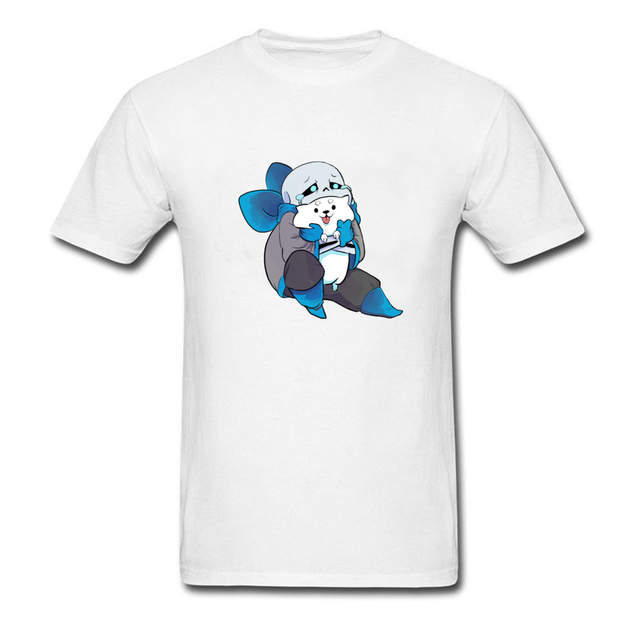 b63580d8 Online Shop Free Delivery 100% Cotton Good Quality Student Tops/Tees Funny  Anime Show T-Shirt Sad Undertale Sans Cats Print T Shirt Casual |  Aliexpress ...