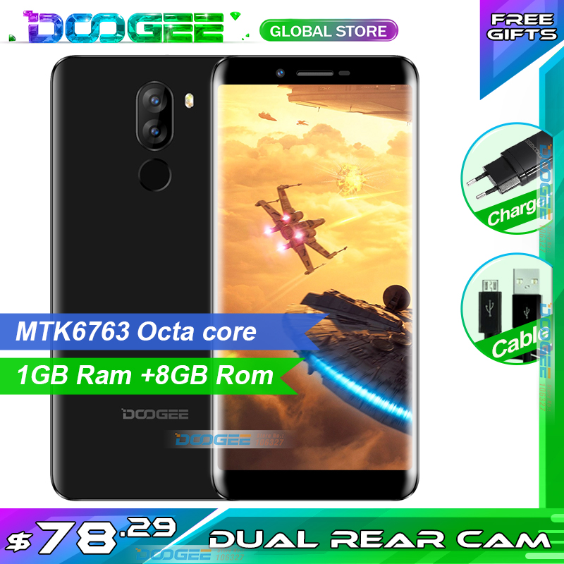 Snelle verzending op nieuwe jaar DOOGEE X60L Smartphone 3300mAh MTK6737V 2GB 16GB Android 7.0 5.5 Inch 13.0MP + 8MP Mobiele Telefoon-in Mobiele Telefoons van Mobiele telefoons & telecommunicatie op AliExpress - 11.11_Dubbel 11Vrijgezellendag 1