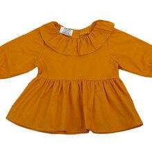 Новая одежда для девочек топы с длинными рукавами для новорожденных девочек, рубашка наряд с шортами одежда для малышей на осень и весну, Прямая поставка