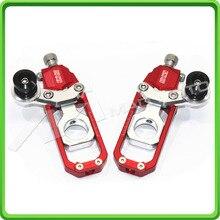 Мотоцикл устройство регулировки натяжителя цепи с Шпульки, пригодный для HONDA CBR 600 RR CBR600RR 2011 2012 2013 Красный и серебряный