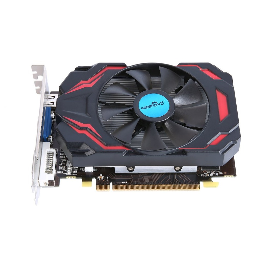 WISENOVO HD7670 600/1800MHz 4G/128bit GDDR5 Gaming Video Graphics Card VGA DVI HDMI with One Cooling Fan 480 Stream Processor computador cooling fan replacement for msi twin frozr ii r7770 hd 7770 n460 n560 gtx graphics video card fans pld08010s12hh