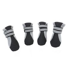Pet-Shoes Dog-Walking-Shoes Reflective-Boots Non-Slip Dogs Small Breathable Large Summer