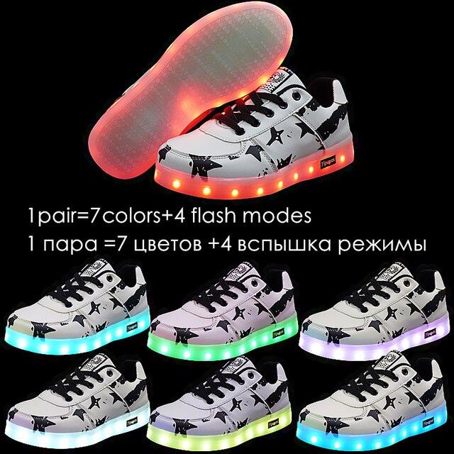 7ipupas 11 Color luminous shoe Lovers couple LED glowing shoe boy girl Unisex rechargeable light led sneaker for children 1