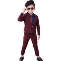 2018 baby boy clothes gentleman 3pieces/set party and wedding long sleeve kid boy clothing set baby boy clothing set gentleman
