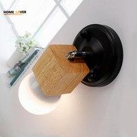 Led Indoor Wall Lamps For Living Room Kitchen Bathroom Ceiling Wall Decoration Arandela Wood Metal Indoor