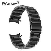 أحدث الأزياء المقاوم للصدأ watchband لسامسونج جير s3 الكلاسيكية/frontier R770 R760 حزام معدني حزام سوار المعصم