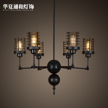 Wholesale Modern minimalist dining room lamp Iron Chandelier Office of American art creative personality telescopic spider Pendant
