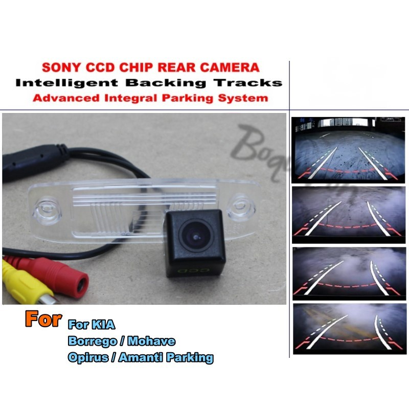 For KIA Borrego Mohave Opirus Amanti Sorento R MX Parking Smart Tracks Chip Camera HD CCD Intelligent Dynamic Rear View Camera for mazda cx 3 cx 3 cx3 2014 2015 smart tracks chip camera hd ccd intelligent dynamic parking car rear view camera