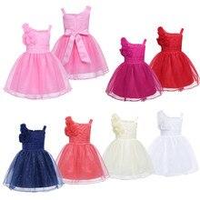 Sleeveless Rose Flower Baby Dress