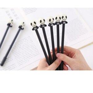 Image 5 - 24 יח\חבילה רעות מצחיקות עט עם הניצוץ אור 0.5mm כדורי שחור צבע עטי מתנת Kawaii מכתבים ציוד לבית ספר FB862