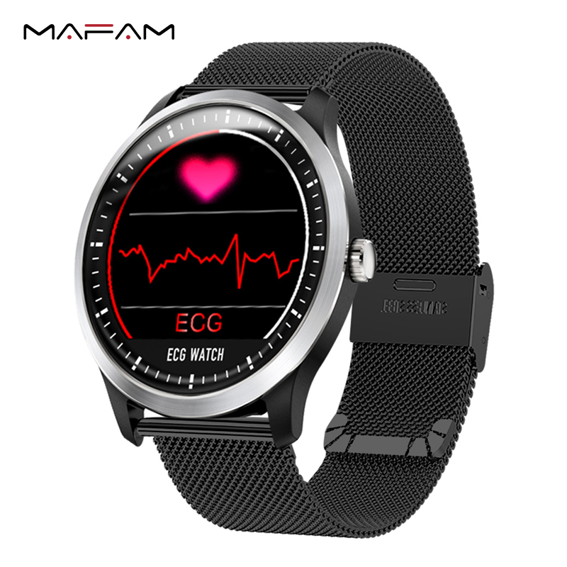 MAFAM N58 ECG PPG Smart Watch With Electrocardiograph ECG Display Holter ECG Heart Rate Monitor Blood Pressure Smartwatch + Gift
