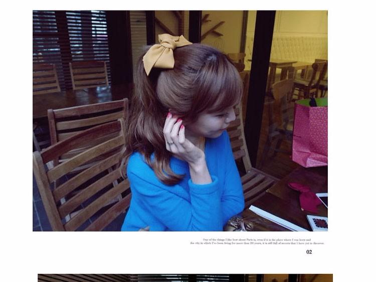 HTB19SlcOVXXXXbMXXXXq6xXFXXXF Pretty Solid Cloth Big Bow Hair Clip For Women - 7 Colors