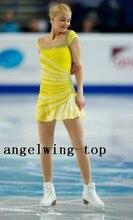 figure skating dresses yellow girls ice skating clothing women competition skating clothing custom ice figure skating dresses