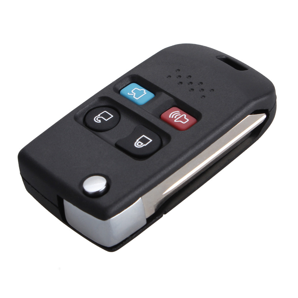 4 Buttons Uncut Blade Car Key Refit Cover Case Shell For Ford Focus Escape Expedition Explorer Fusion Mustang Taurus Mercury