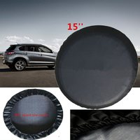 Black 15 Inch DIY Trailer Spare Wheel Tire Cover Made By Heavy Duty Vinyl Size M