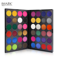 IMAGIC Brand Shimmer Eye Shadow Waterproof White Black Red Pigment Cosplay Candy Color 48 Eyeshadow Palette