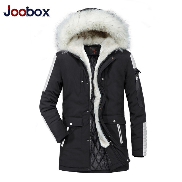 JOOBOX 2018 High Quality Parka Men Winter Long Jacket Men Thick Cotton-Padded Jacket Mens Parka Coat Male Fashion Casual Coats