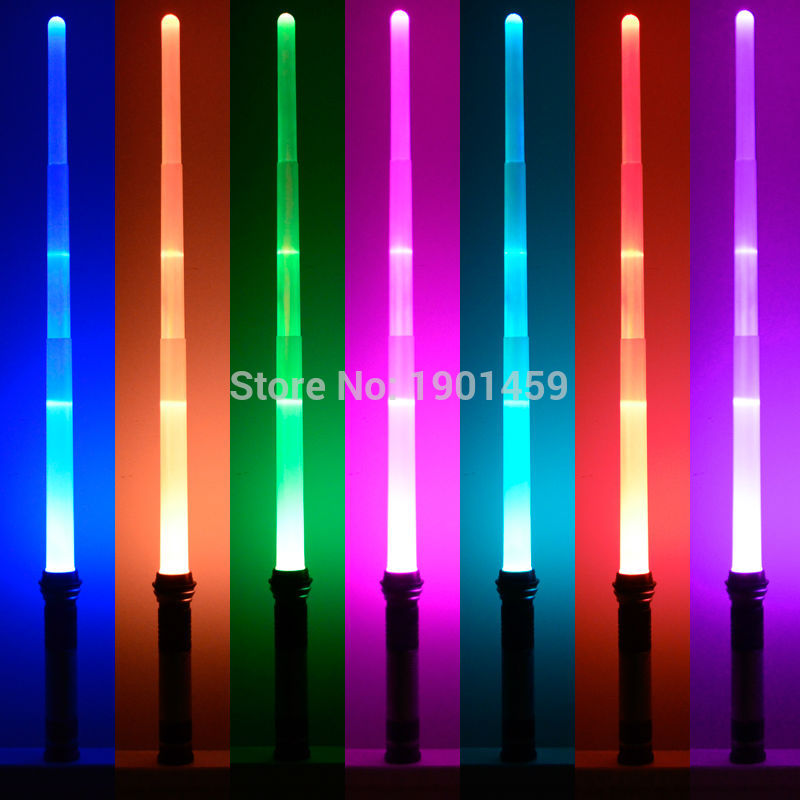 New 7 Colors Switched Star Wars Scalable Lightsaber With Light & Sounds Laser Sword Toys Cosplay Weapons Sabers Kid Boy Gift