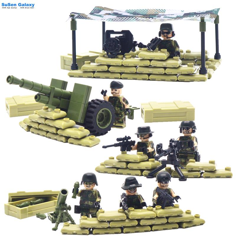 Super Military SWAT Set Heroes Building Blocks Mini Figure Minifigures Brick Kid Toy Compatible with Lego