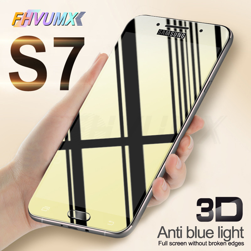 3D Protective Glass On The For Samsung Galaxy A3 A5 A7 J3 J5 J7 2016 2017 Glass Cover S7 Tempered Screen Protector Glass Film